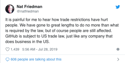 Nat Friedman Tweet