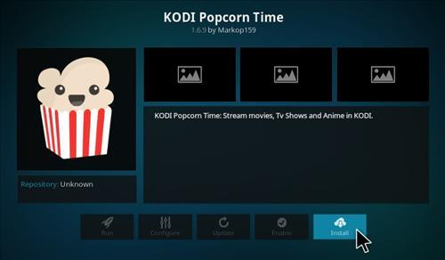 Kako namestiti Popcorn Time na Kodi 17 Krypton