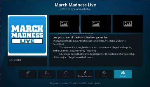 Instalar March Madness Live
